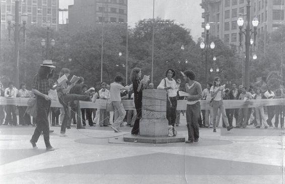 Centro Livre de Expressão Intervenção na Praça da Sé SP 1979 e1594138843669