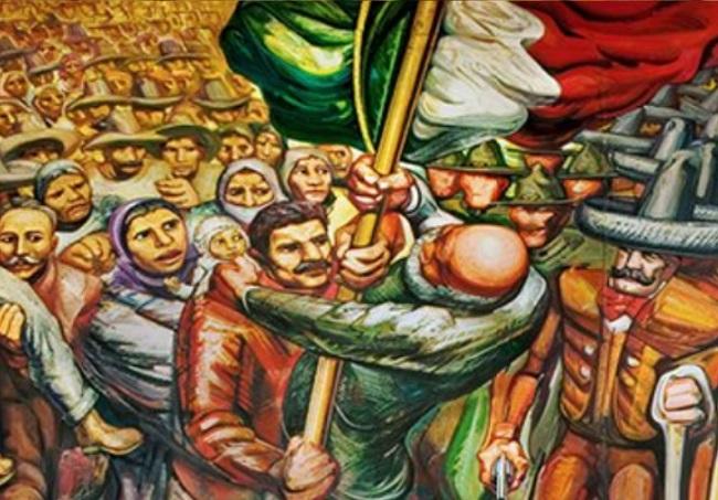 SIQUEIROS David Alfaro Siqueiros Mural Del Porfirismo a la Revolucion 1957 1966 La enseñanza de la historia
