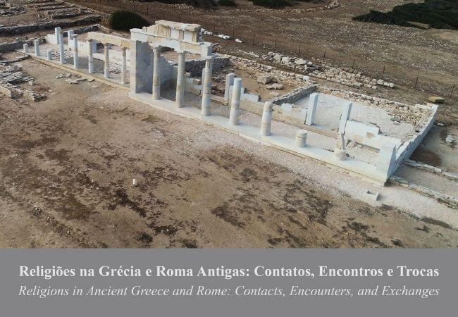 Yannos Kourayos. Vista aerea do santuario de Despotiko Foto Historia Questoes e Debates Religiões
