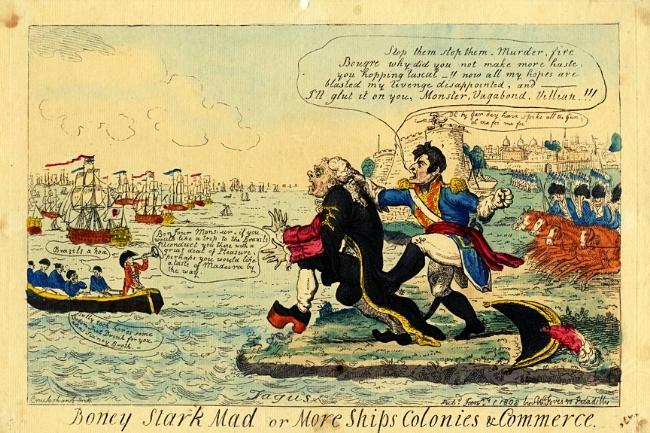 Agua forte gravada por I Cruikshand 1808 Almanack